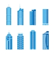 Modern skyscrapers set vector image