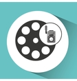movie video camera film reel icon vector image