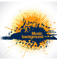 musical background blot vector image