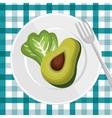 nutrition healthy food icon vector image vector image
