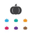 of planting symbol on pumpkin vector image