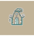 Ornate house vector image vector image