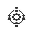 outsourcing business collaboration icon in flat vector image vector image