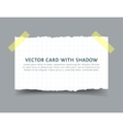 Paper card with scotch tape pieces and shadow vector image vector image