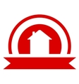 red real estate symbol vector image