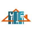 repair of home symbol vector image vector image