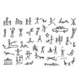 Set of stick figures in motions vector image
