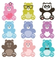 Set of teddy bears vector image vector image