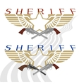 Sheriff badge and gun vector image vector image