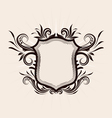 Shield Decorative ornament vector image vector image