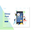 sleep app website landing page design vector image vector image