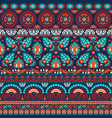suzani style antique rug motifs patchwork vector image
