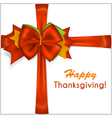thanksgiving red bow vector image vector image