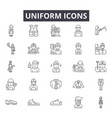 uniform line icons for web and mobile design vector image