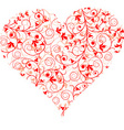 valentines day heart background vector vector image vector image