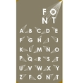 Wire low poly alphabet font with shadow vector image vector image