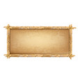 wooden frame made brown bamboo sticks