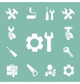 working tools isolated icons set of hammer wrench vector image