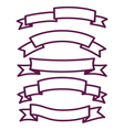Banner and ribbon set vector image