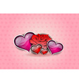 flower and hearts on the background vector image