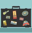 set of traveler sticker elements vector image