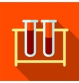 Tube flat icon vector image
