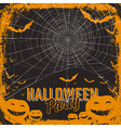 halloween party card vector image