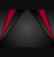 abstract corporate red black background vector image vector image