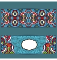 Abstract ethnic pattern cards setBright vector image vector image