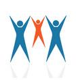 abstract happy family logo vector image
