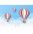 air balloon paper cut colourful flying balloons vector image vector image