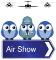 AIR SHOW SIGN vector image vector image