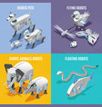 animals robots isometric concept vector image