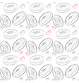 beautiful seamless pattern with line drawn vector image