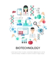 Biotechnology Round Composition vector image vector image