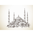 Blue Mosque vector image
