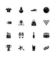 bowling - flat icons vector image