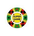 circle logo super game Desktop gambling vector image vector image