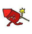 comic cartoon funny firework character vector image vector image