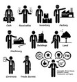 company business assets pictograph human pictograp vector image vector image