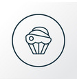 cupcake icon line symbol premium quality isolated vector image vector image