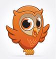 cute cartoon owl character vector image