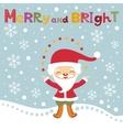 Cute Santa Christmas card vector image vector image