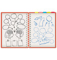 dodle note brainstorming vector image vector image