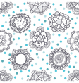 Ethnic seamless pattern with floral ornament vector image vector image