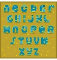 Fairy Alphabet Funny blue and yellow letters vector image vector image