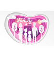 family - modern paper cut vector image
