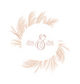 floral wreath with watercolor dry pampas grass vector image