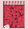 gift box with red roses and macaroons vector image