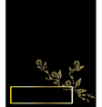 gold floral background banner vector image vector image